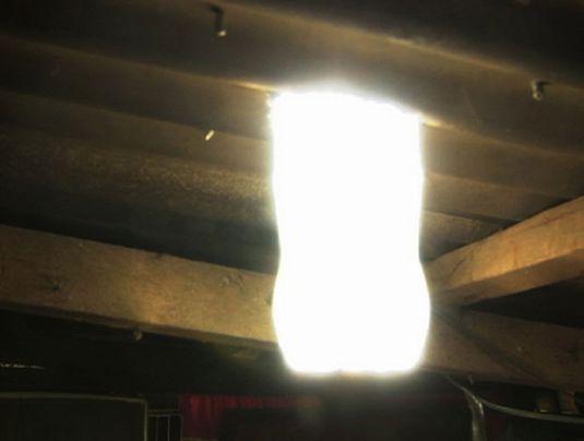 plastikflaschen lampe