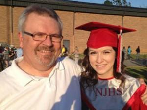 Bryan Martin mit Tochter Brenna Martin, Abschlussgeschenk