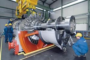 Gasturbine von Siemens