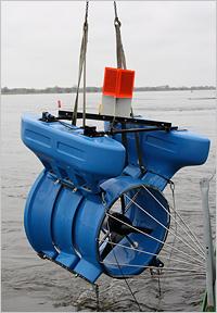Kleinwasserkraftwerk Installation Elbe, Smart-Hydro-Turbine