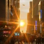 Magischer Sonnenuntergang in New York
