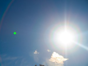 Sonnenschein am Firmament, Sonne