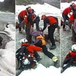 Mann überlebt mehrere Tage in Gletscherspalte