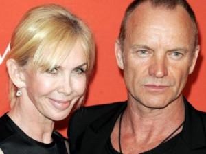 Sting und Trudie, Trudie Styler, gruener Oscar