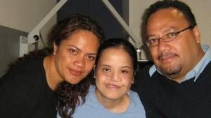 Tae Kami mit ihren Eltern