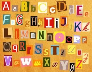 buntes Alphabet, Buchstaben