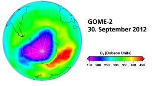 GOME-2 Ozonschicht erholt sich weiter