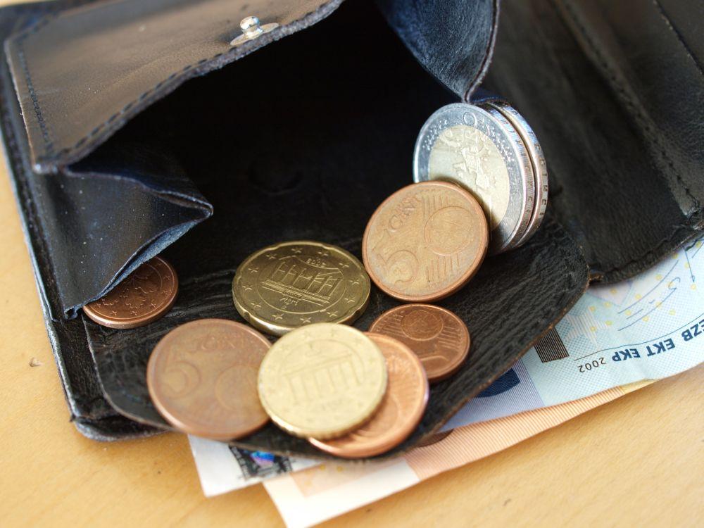 Geldboerse, Kleingeld, Geld, Lederboerse