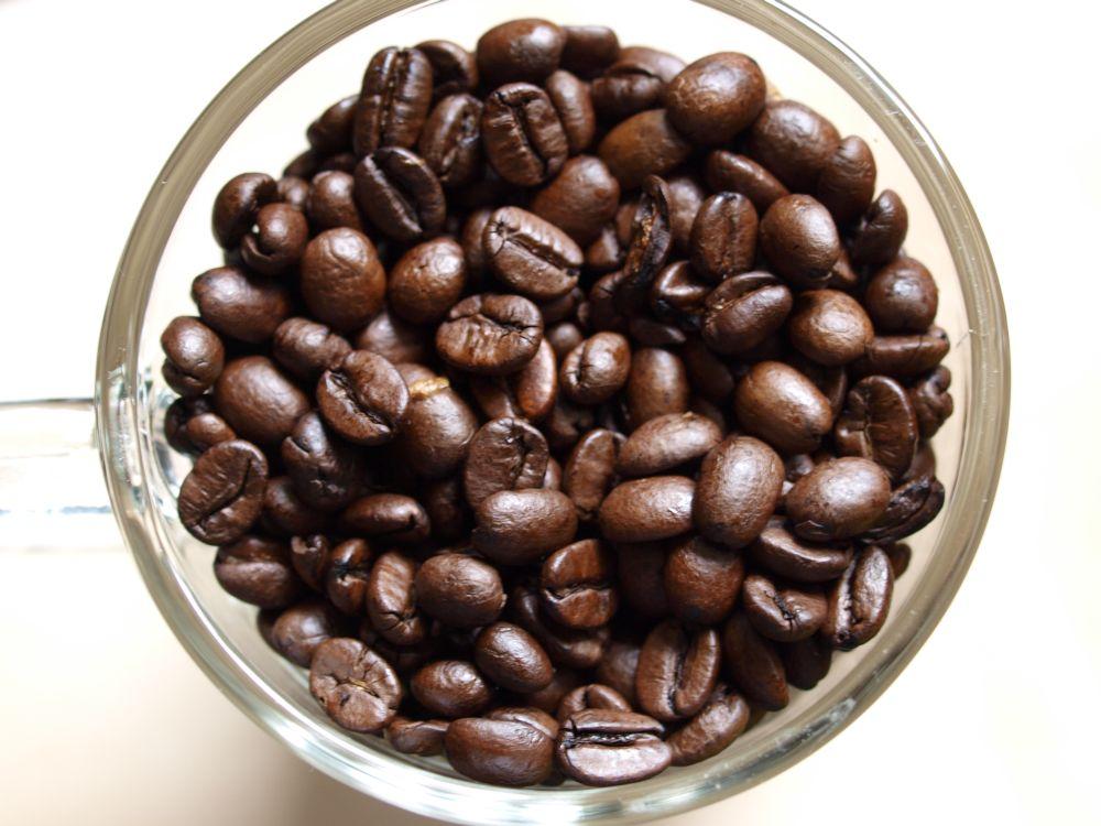 Kaffeebohnen-Tasse