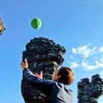 Kamera-Ball macht 360° Aufnahmen im Flug