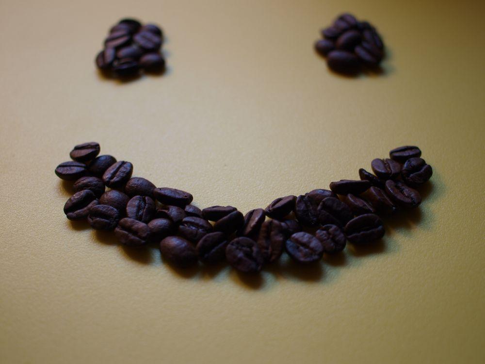 Kaffee-Smile, positive Nachrichten