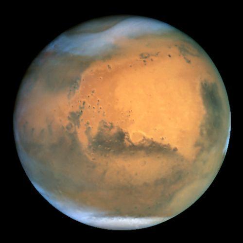 wissen  Schauspiel im Orbit: Staubsturm auf dem Mars Mars