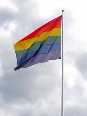 Rainbow-Flag, Regenbogenfahne, Regenbogenflagge, Symbol, Lesben, Schwule, Homosexuelle Ehe