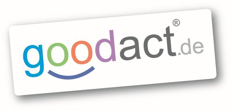 goodact logo, positive nachrichten, gutes tun, schenken, verschenken