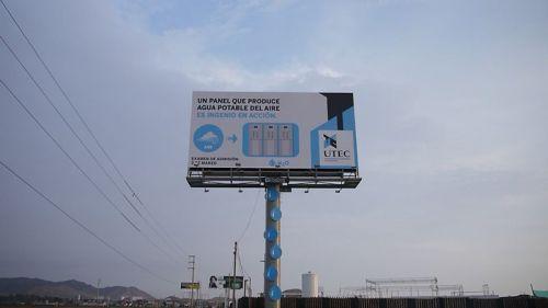 technik  Eine Werbetafel spendet Trinkwasser aus der Luft Werbetafel Trinkwasser Luft