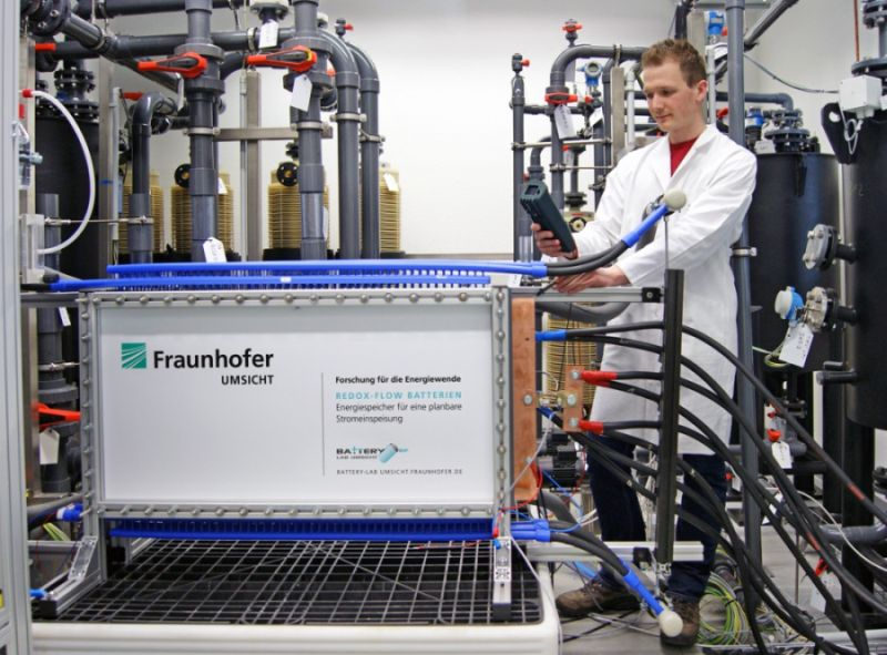 Batteriestacks, Redox-Flow-Batterien, fraunhofer. umsicht, positive nachrichten