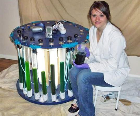 Sara Volz und ihr neuartiger Algenreaktor, positive nachrichten