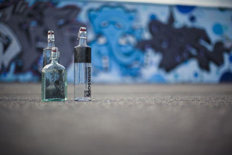 soulbottles, trinkflaschen aus glas, retro-look, positive nachrichten