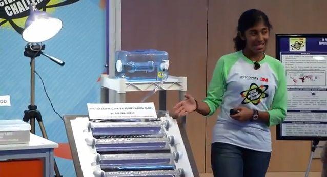 Deepika Kurup, eine 14-jaehrige, Wasser-Reinigungsverfahren, 3m, positive nachrichten, trinkwasser