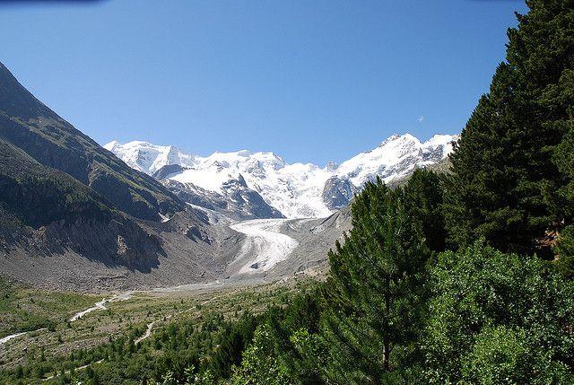 Morteratschgletscher in der Berninagruppe, positive nachrichten