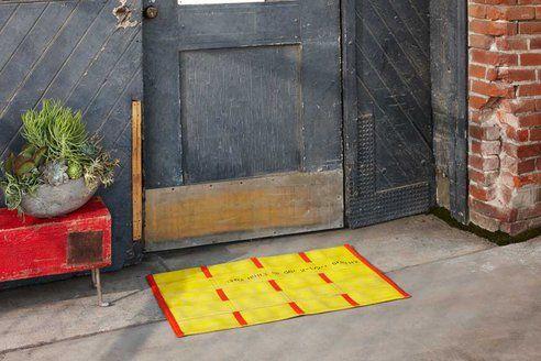 Vorleger, gelb, orange, Feuerwehrschlauch, design, positive nachrichten