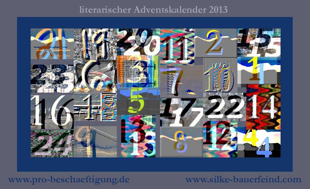literarischer adventskalender 2013, weihnachten, silke bauerfeind, positive nachrichten