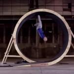 Turner Damien Walters rennt einen Looping