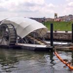 Solargetriebenes ″Wasserrad″ reinigt verschmutzte Gewässer