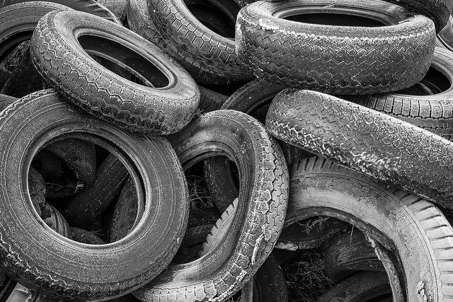 Reifen, Haus, Recycling, bauen, positive nachrichten