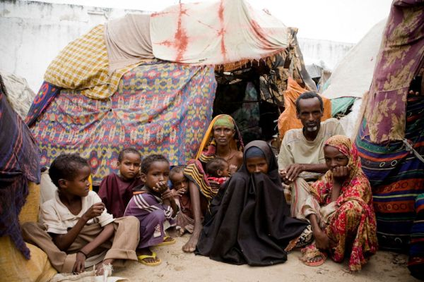 Familie in Ostafrika