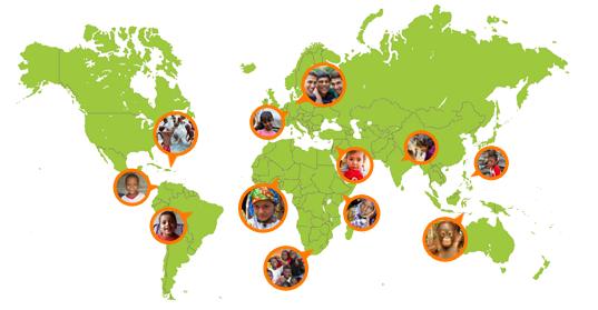 Karte von rund 40 sozialen Projekten von Photocircle