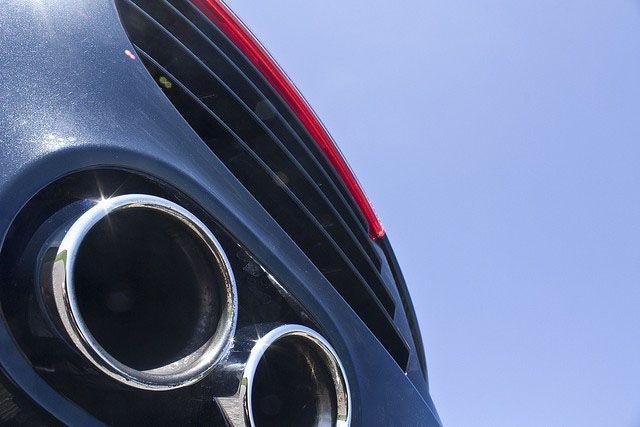 Auspuff eines Audi R8