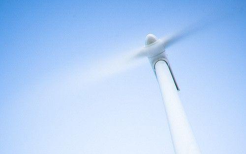 Sich drehende Windturbine