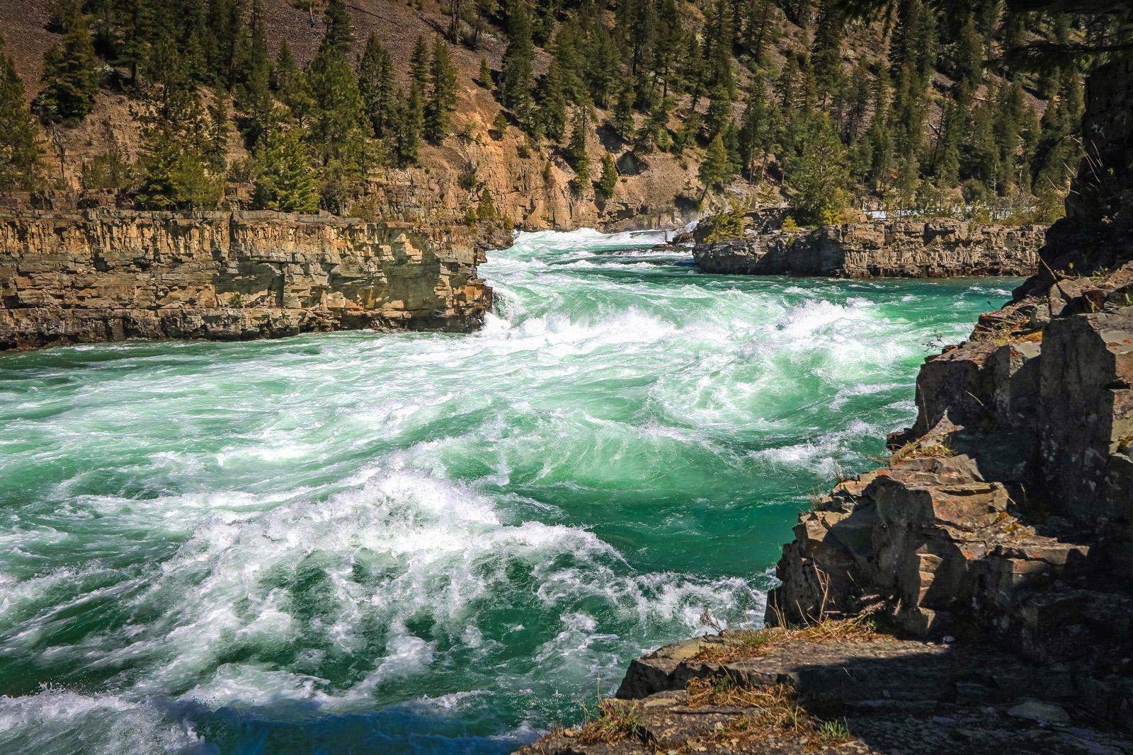 Kootenai Falls am Kootenai River